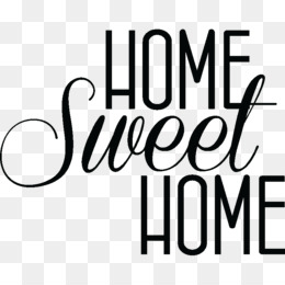 Home Sweet PNG Transparent Clipart Free
