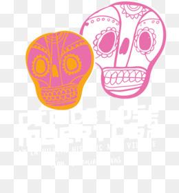 Free download Skull Line Font - Dia De Los Muertos png