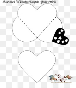 free download valentine s day paper heart envelope pattern