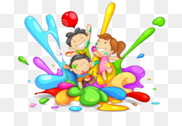 Holi, Festival, Child, Food, Organism PNG image with transparent background