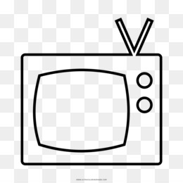 Free Download Television Drawing Black And White Coloring Book