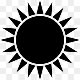 Sun Black And White PNG and Sun Black And White Transparent Clipart