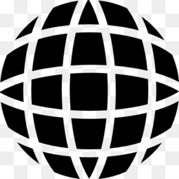 Globe, Shape, Earth, Black And White, Sphere PNG image with transparent background
