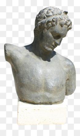 David Sculpture Renaissance Statue Bust Greek Column Png