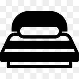 Bed, Computer Icons, Sleep, Black, Black And White PNG image with transparent background