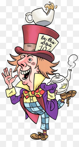 Mad Hatter Tea Party PNG Transparent Clipart