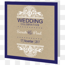 Wedding Invitation, Paper, Kraft Paper, Text, Brand PNG image with transparent background