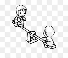 Colouring Pages Coloring Book Seesaw Playground Game Seesaw 600