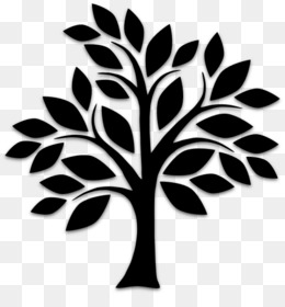 Tree, Silhouette, Drawing, Leaf, Black And White PNG image with transparent background