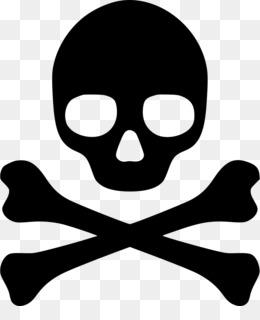 Hazard symbol Skull an...