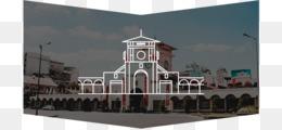 Bến Thành Market, Landmark, Illustrator, Building PNG image with transparent background