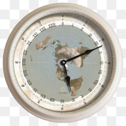 Flat Earth, Earth, Clock, Wall Clock PNG image with transparent background
