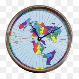 Earth, Flat Earth, Time Zone, Clock, Home Accessories PNG image with transparent background