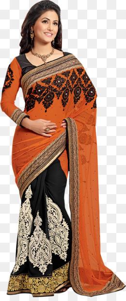 Free Download Hina Khan Wedding Sari Georgette Lehenga Style Saree