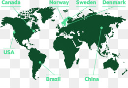 Poster Black And White World Map World Map Png Download - Map of the world poster black and white