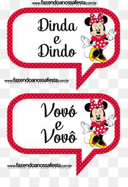 Download Gratis Minnie Mouse Mickey Mouse Pesta Anak Convite Mini