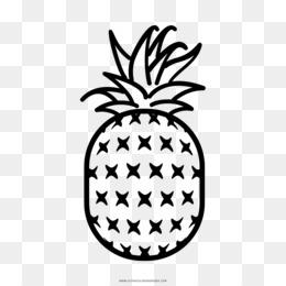 Scaricare Gratuito Disegno Da Colorare Di Ananas In Bianco E Nero