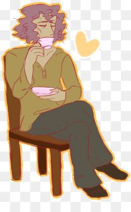 Free download Art Doodle Character Mystic Messenger - Drink man png