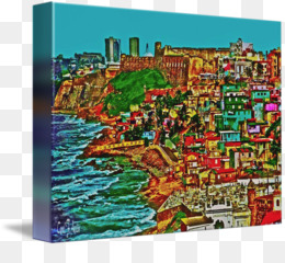 Old San Juan Oil painting Art Canvas - painting