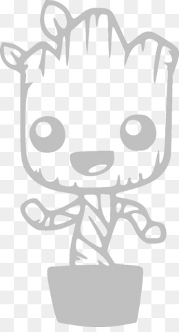 free download baby groot wall decal sticker - baby groot png.