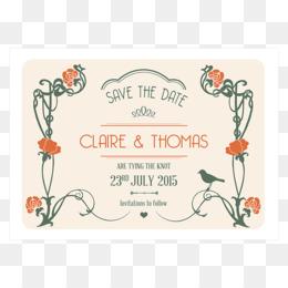 Free download Wedding invitation Art Deco Art Nouveau Save the date ...