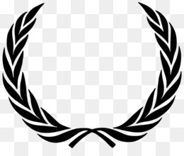 Laurel Wreath, Wreath, Bay Laurel, Black And White, Wing PNG image with transparent background
