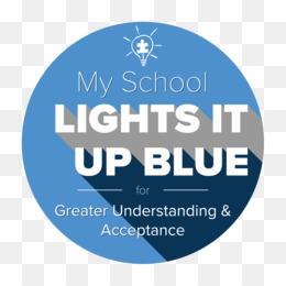 Sticker Light It Up Blue Decal World Autism Awareness Day   Light