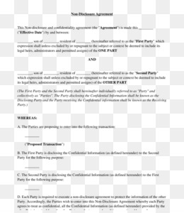 Free Download Document Non Disclosure Agreement Template
