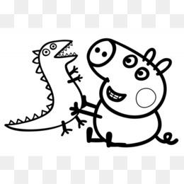 Daddy Pig Mummy Pig Christmas Coloring Book Pig 668458 Transprent