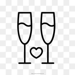 Download Gratis Pernikahan Buku Mewarnai Toast Gelas Anggur Upacara