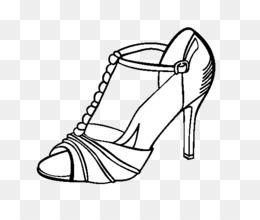 ücretsiz Indirin Yüksek Topuklu Ayakkabı Boyama Kitabı Parti çizim