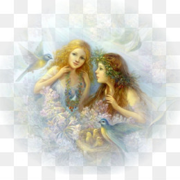 Fairy, Painting, Art, Angel, Supernatural Creature PNG image with transparent background