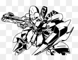 Free download Mecha Mobile Suit Gundam: Federation vs  Zeon Line art