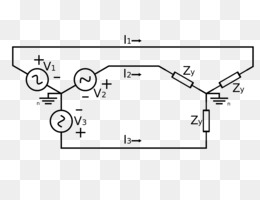 threephase electric power, deltawye transformer, wiring diagram, text,  diagram png image with