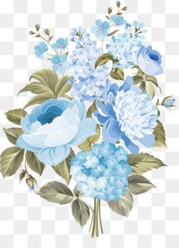 Wedding Invitation, Flower, Floral Design, Blue PNG image with transparent background