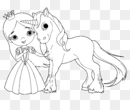 Free Download Coloring Book The Princess And The Unicorn Fairy Adult