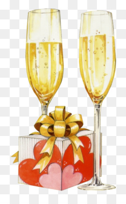 Champagne Birthday Greeting Note Cards Stemware PNG Image With Transparent