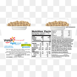 Yoplait, Yoghurt, Nutrition Facts Label, Food PNG image with transparent background