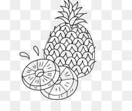Scaricare Gratuito Libro Da Colorare Di Ananas Disegno Di Frutta