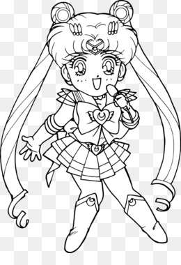 Free download Chibiusa Sailor Moon Coloring book Black and white ...