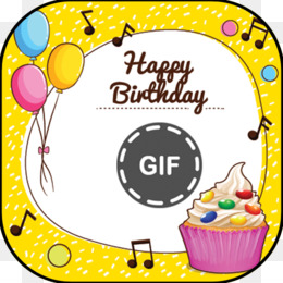 Birthday Greeting Note Cards Wish Yellow Text PNG Image With Transparent Background