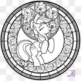 Free download Princess Luna Stained Glass Coloring Book Sunset ...
