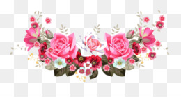 Floral Design, Flower, Page Header, Pink PNG image with transparent background