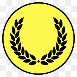 Laurel Wreath, Wreath, Crown, Yellow, Circle PNG image with transparent background