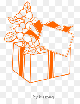 Drawing, Christmas Day, Gift, Text, Orange PNG image with transparent background