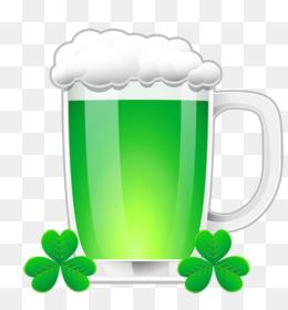 Saint Patricks Day, Shamrock, Leprechaun, Green, Cup PNG image with transparent background