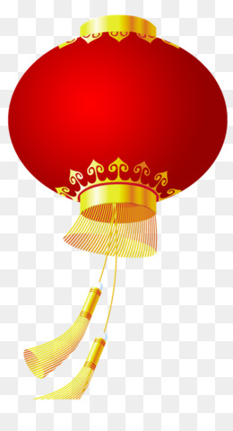 Lantern, Chinese New Year, Lantern Festival, Yellow PNG image with transparent background
