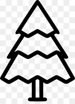 Christmas Day, Christmas Tree, Computer Icons, Black And White, Line PNG image with transparent background