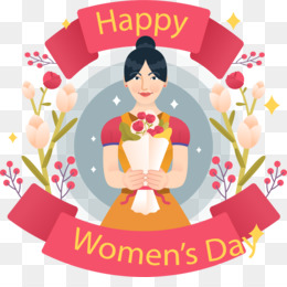 International Womens Day, Art, Woman, Pink, Flower PNG image with transparent background