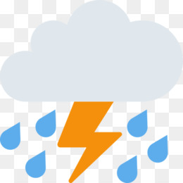 Emoji, Thunderstorm, Severe Thunderstorm Warning, Blue, Text PNG image with transparent background